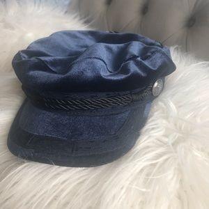 Velvet biker hat